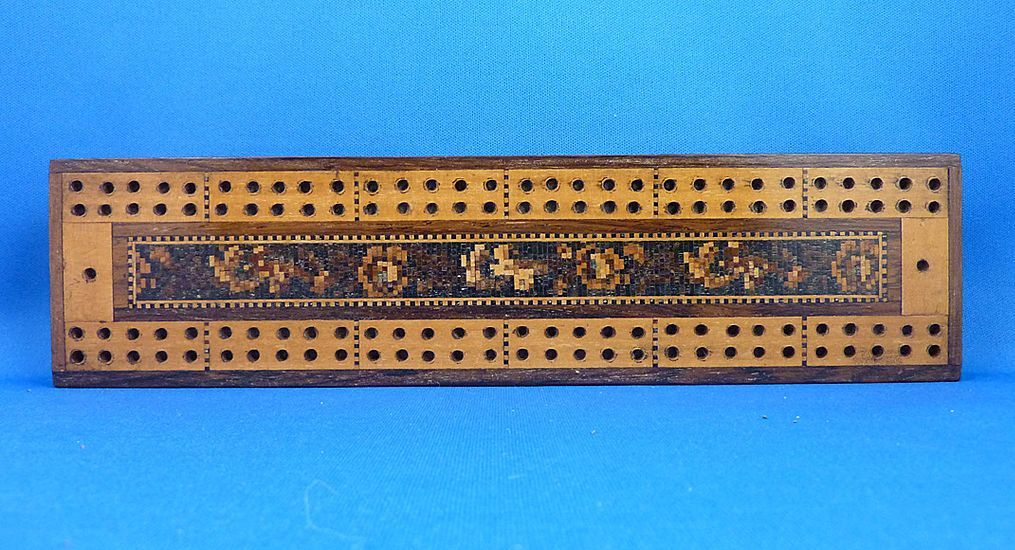 Tunbridge Ware Cribbage Board