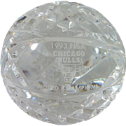 Waterford Crystal Basketball - Chicago Bulls 1993 World Champions