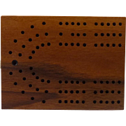Wood Cribbage Box with Cards and Pegs