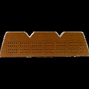 Ingot Shaped Maple Cribbage Board