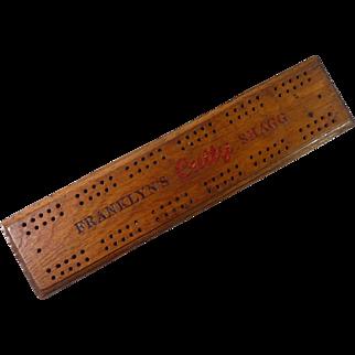 Franklyn's Cutty Shagg Tobacco Advertising Cribbage Board