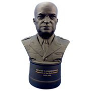 Wedgwood Bust of Dwight D. Eisenhower – Black Basalt