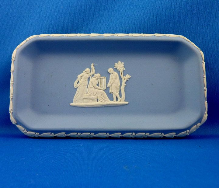 Wedgwood Blue Jasperware tray