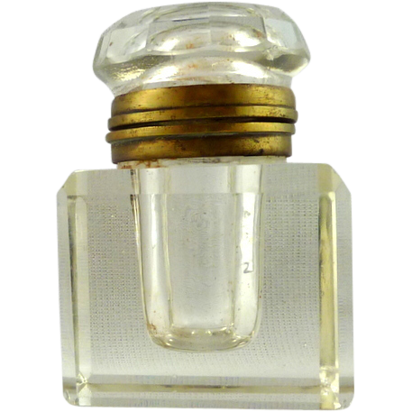 Inkwell with Hinged Brass Collar