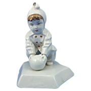 Zsolnay Porcelain Child With Ball