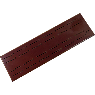 Bakelite Cribbage Board with Original Pegs