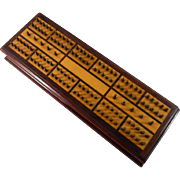 Beautiful Inlaid Wood Hedgehog Cribbage Board