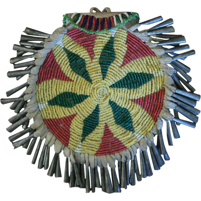 Western Apache Beaded Ration Ticket/Dice Bag