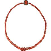 Antique Coral Trade Bead Necklace