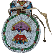 Southern Cheyenne Beaded Woman's Belt Bag 1880's