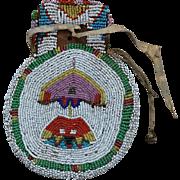 Southern Cheyenne Beaded Woman's Belt Bag 1880's