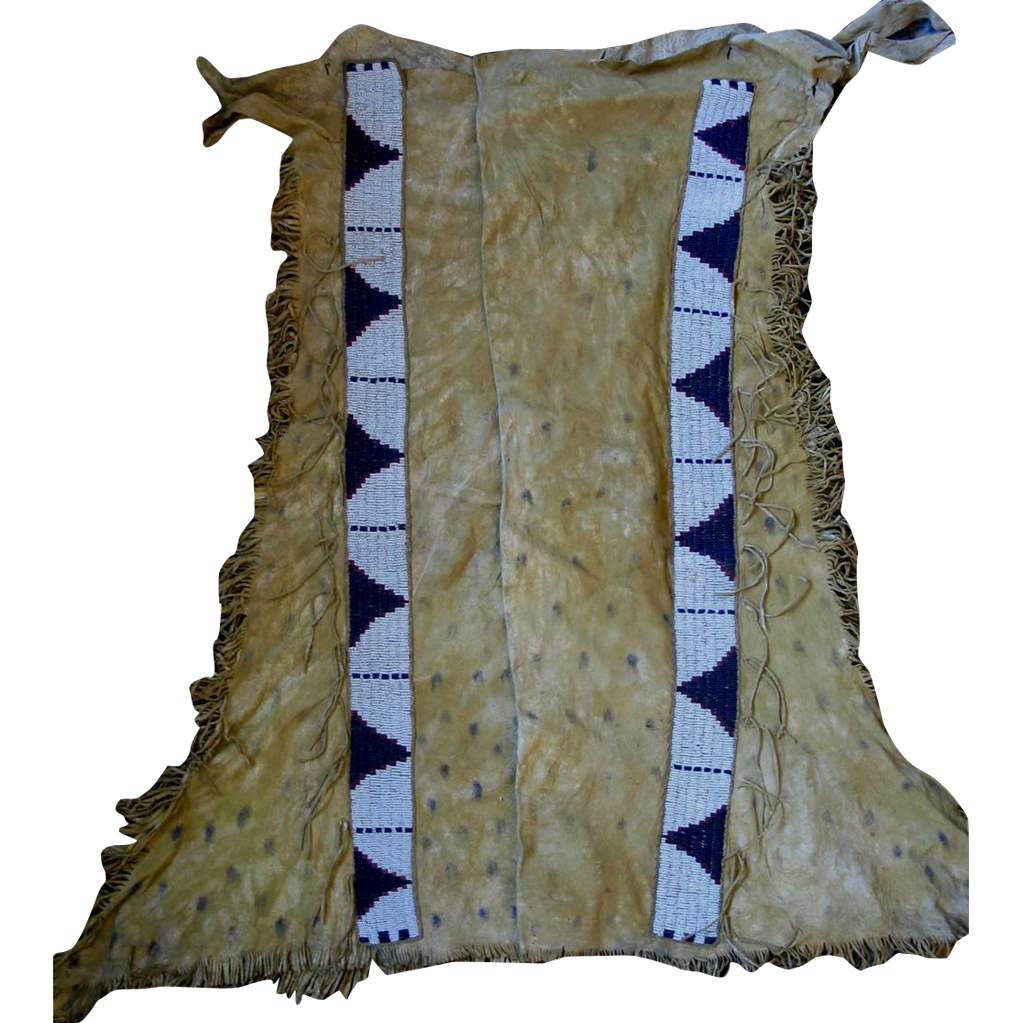 Beaded Hide Lakota Sioux (Brule) Leggings  1870