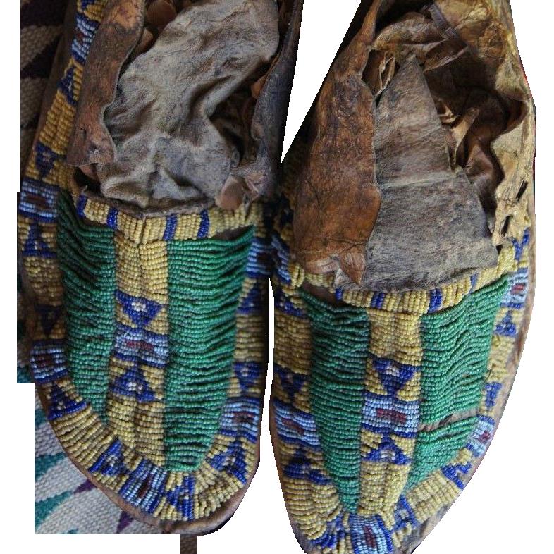 1870's Cheyenne Moccasins