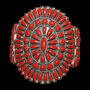 Mediterranean Coral Navajo Sunburst Bracelet