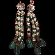Navajo/Pueblo Turquoise And Heishi Earrings