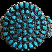 Natural Spiderweb Bisbee Turquoise Navajo Cluster Bracelet