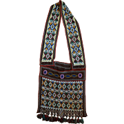 Early Great Lakes Potawatomi Bandolier Shoulder Bag