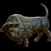 1870's French Ormolu Gilt American Bison Bronze