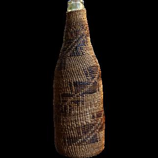 1890's Pit River Twined Basket Bottle