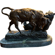 Rosa Bonheur Bronze Animaliere Sculpture of Buffalo