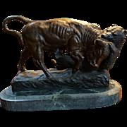 Rosa Bonheur Bronze Animaliere Sculpture of Buffalo