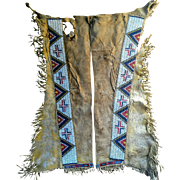 Jicarilla Apache Beaded Leggings 1870