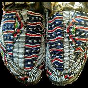 Jicarrilla Apache Beaded Moccasins 1880