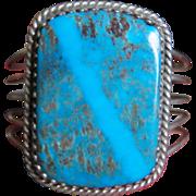 Vintage High Grade Kingman Turquoise Bracelet