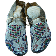 Early Southern Cheyenne Men's Moccasins 1880's