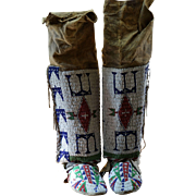 Lakota Women's Legging And Moccasin Set  Turn Of The Century