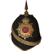 1901 Boer War West Yorkshire Regiment Officer's Dress Shako