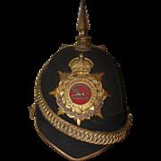 1901 Boer War West Yorkshire Regiment Officer's Dress Shako