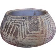 "Hohokam Red On Buff Ware  5 ½"" Bowl 800-1200 AD"