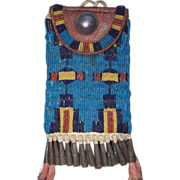 Northern Cheyenne Fully Beaded Woman's Belt Bag Late 1870's