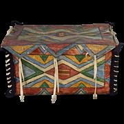 Lakota Sioux Buffalo Hide Parfleche Storage Box