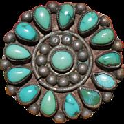 Circular Zuni Cluster Ring 1930's