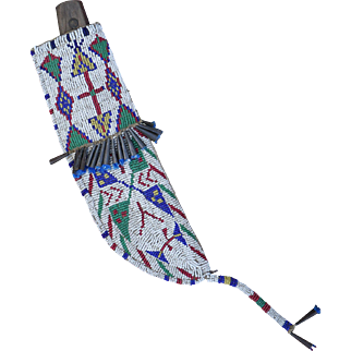 19th Century Lakota Sioux Beaded Knife Sheath