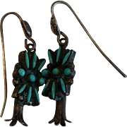 Zuni Squash Blossom Earrings