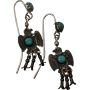 Fred Harvey Era Thunderbird Earrings