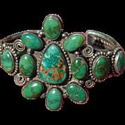 Vintage Turquoise Cluster Bracelet