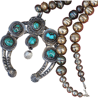 Vintage Naja Bench Made Bead Necklace