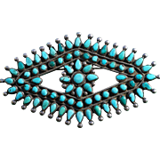 Large Turquoise Cluster Pin