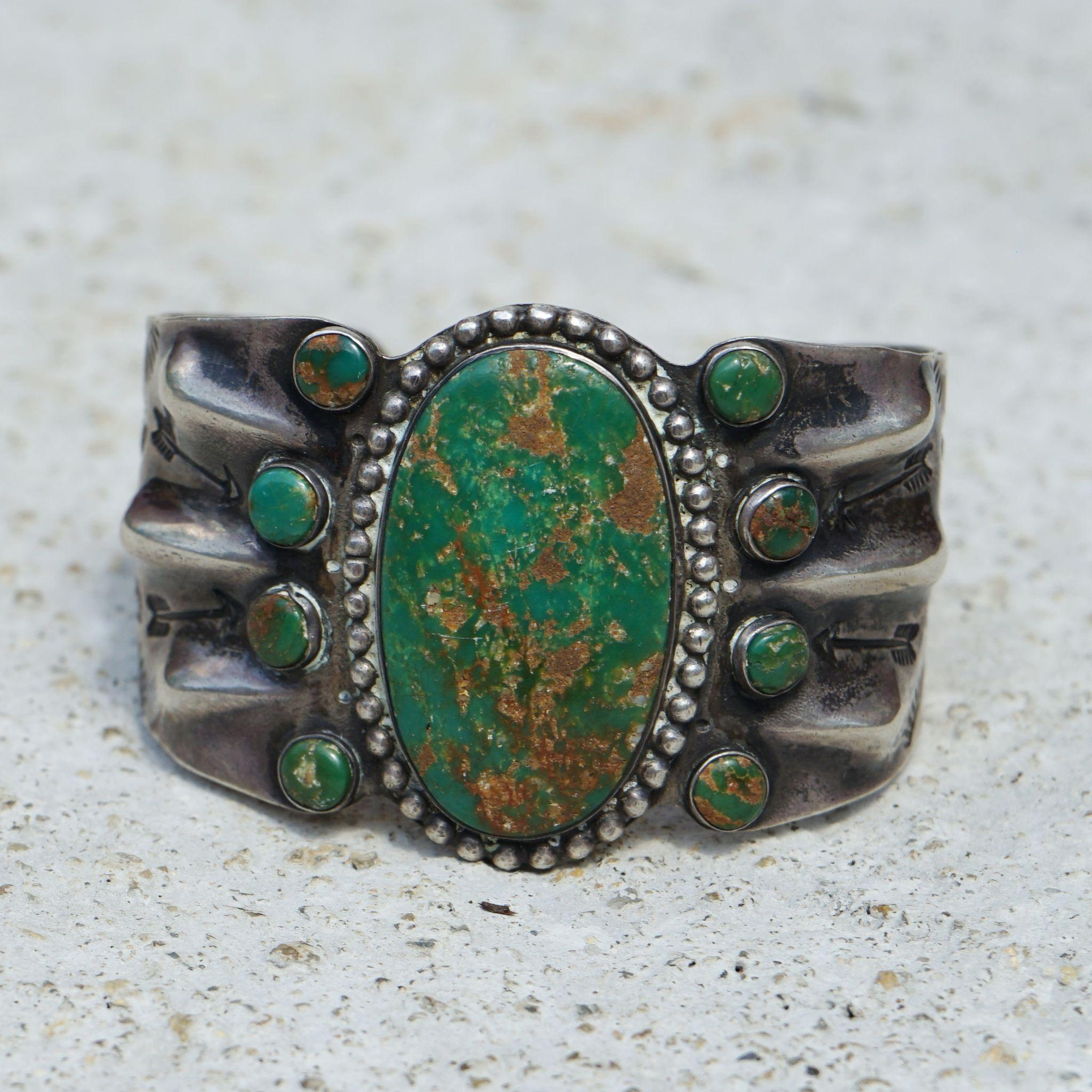 cerrillos women 1950s cerrillos turquoise cuff: cerrillos turquoise comes from one of the oldest mines in the country and is the only turquoise formed at the base of the volcano.