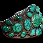Large Vintage Turquoise  Bracelet