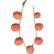 Victorian Coral Cameo Bracelet
