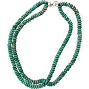 Broken Arrow Turquoise Bead Necklace