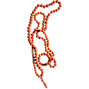 Long Victorian Coral Necklace