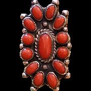 Vintage Coral Cluster Ring