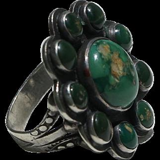 Vintage Turquoise Satellite Ring