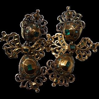 Antique Spanish Emerald Earrings circa 1780